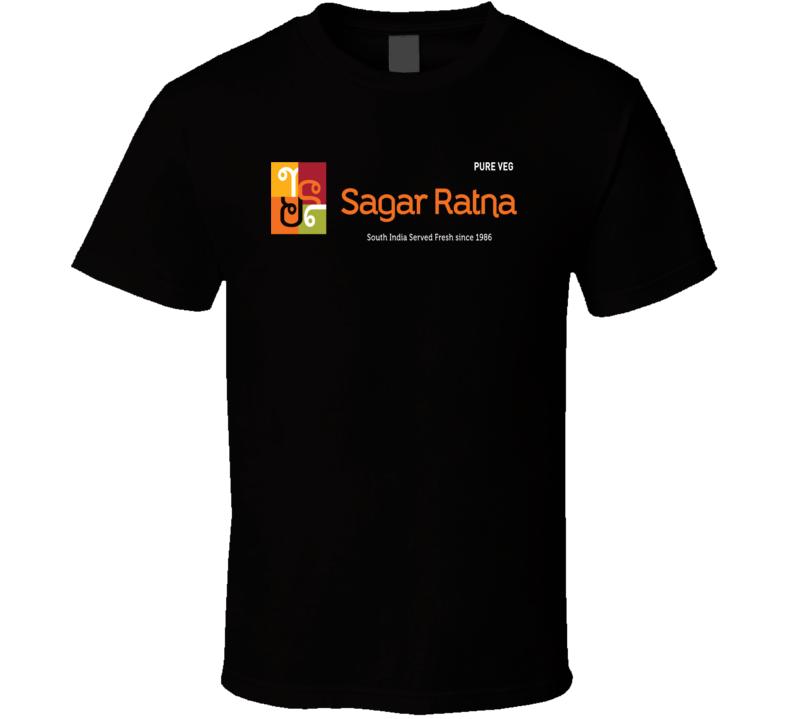 Sagar Ratna Indian Cuisine Cool Curry Food Lover Worn Look T Shirt
