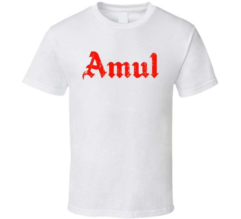 Amul Indian Cuisine Cool Curry Food Lover Worn Look T Shirt