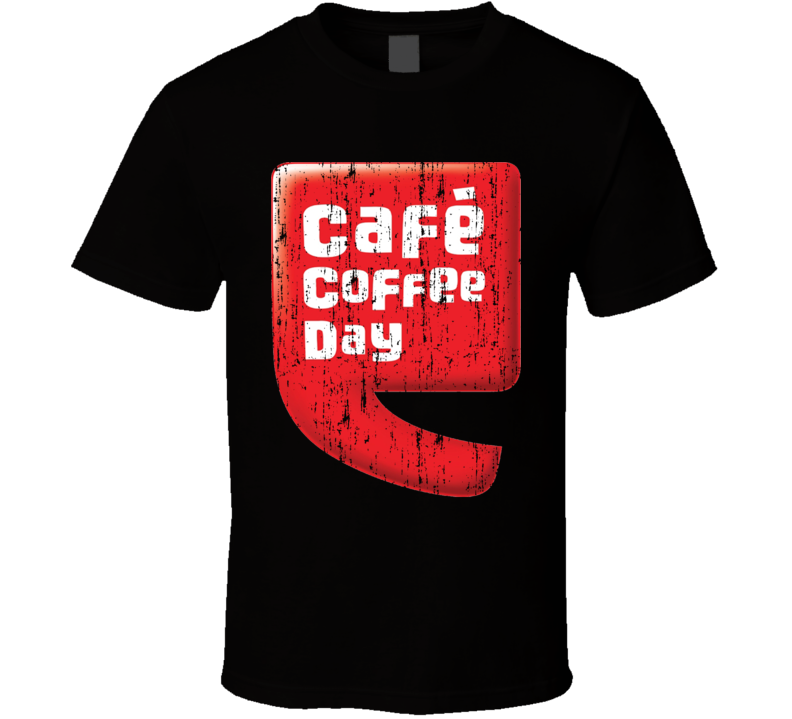 Cafe Coffee Day Indian Cuisine Cool Curry Food Lover Worn Look T Shirt