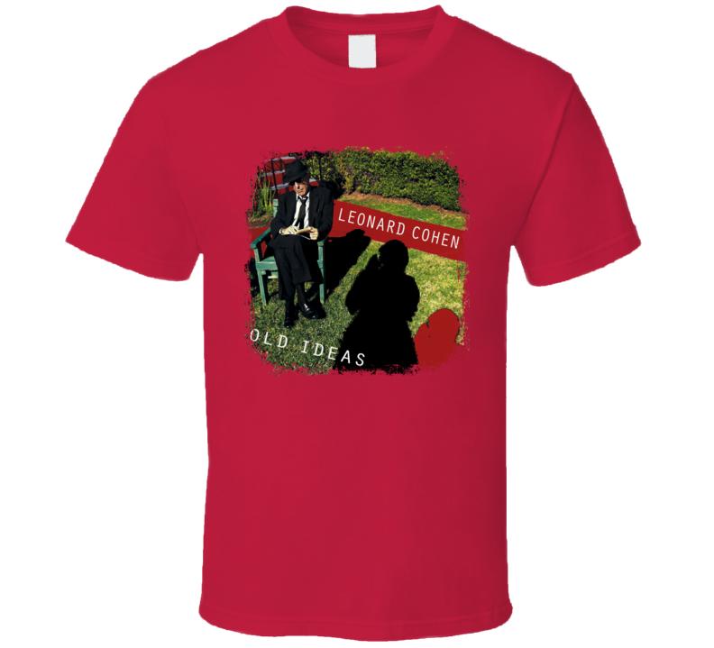 Old Ideas Leonard Cohen Memorial Album Poster Worn Look Music T Shirt