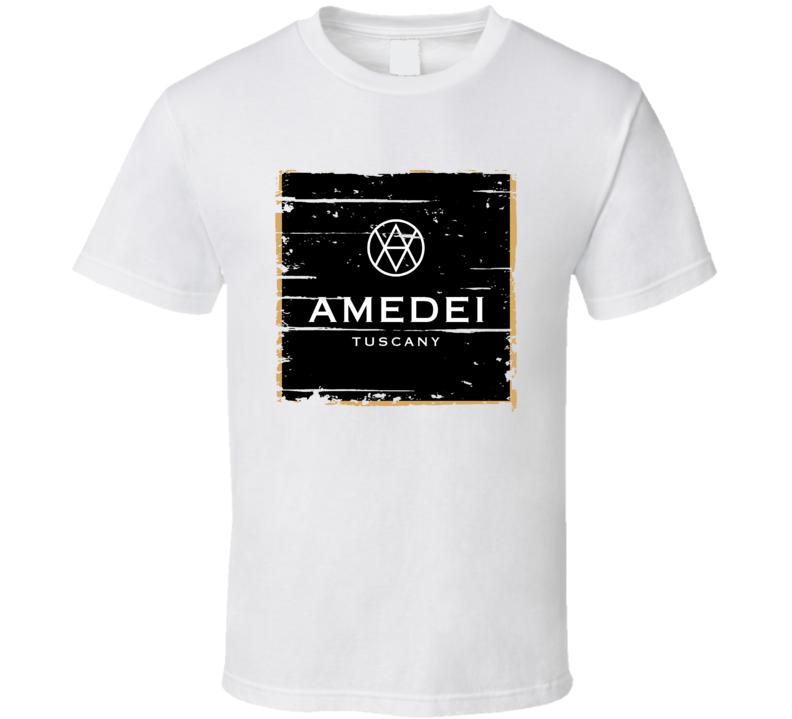 Amedei Italian Cuisine Spicy Food Lover Worn Look Cool T Shirt