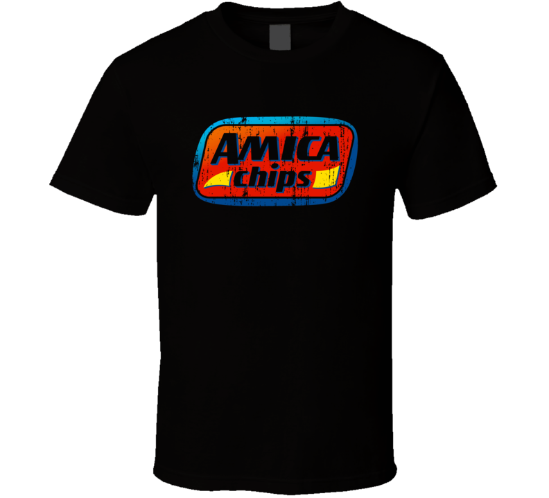 Amica Chips Italian Cuisine Spicy Food Lover Worn Look Cool T Shirt
