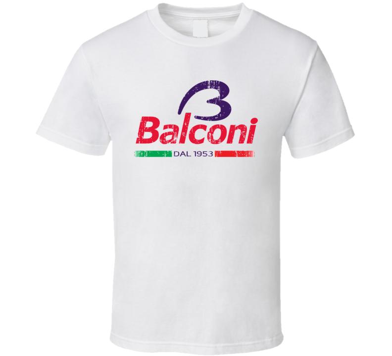 Balconi Italian Cuisine Spicy Food Lover Worn Look Cool T Shirt