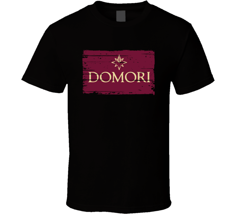 Domori Italian Cuisine Spicy Food Lover Worn Look Cool T Shirt