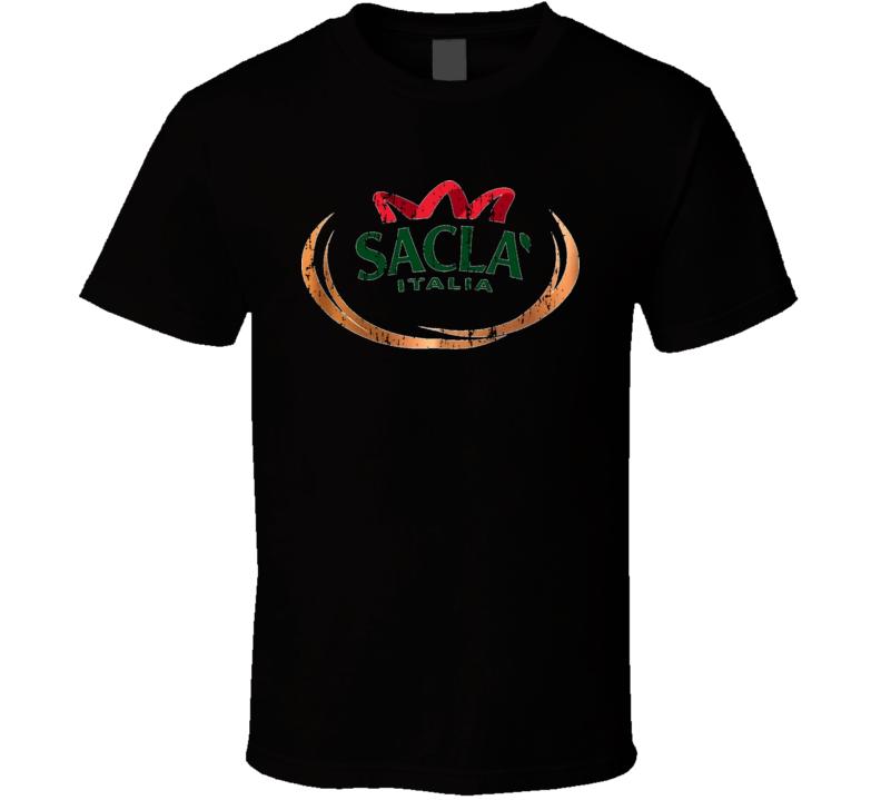 Sacla Italia Italian Cuisine Spicy Food Lover Worn Look Cool T Shirt