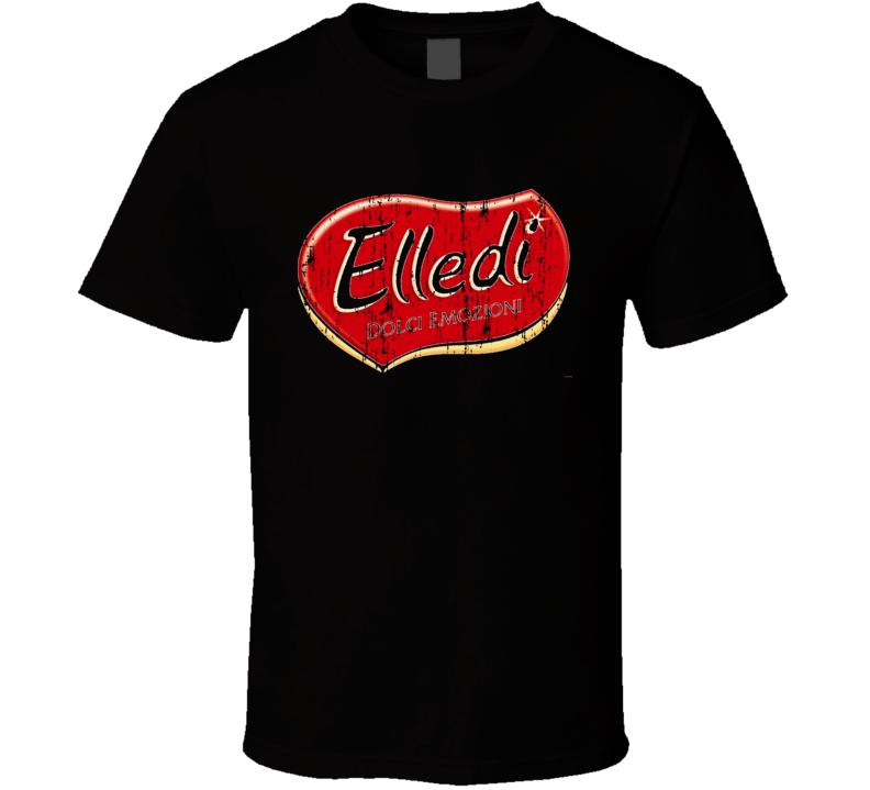 Elledi Italian Cuisine Spicy Food Lover Worn Look Cool T Shirt