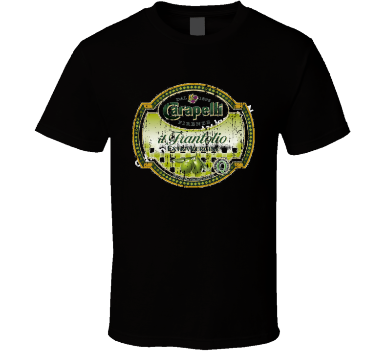 Carapelli Italian Cuisine Spicy Food Lover Worn Look Cool T Shirt