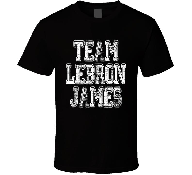 Team LeBron James Cleveland Basketballer Worn Look Sports T Shirt