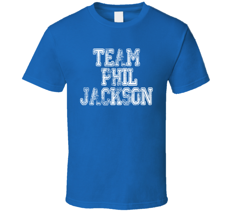 Team Phil Jackson New York Basketball Coach Worn Look Sports T Shirt