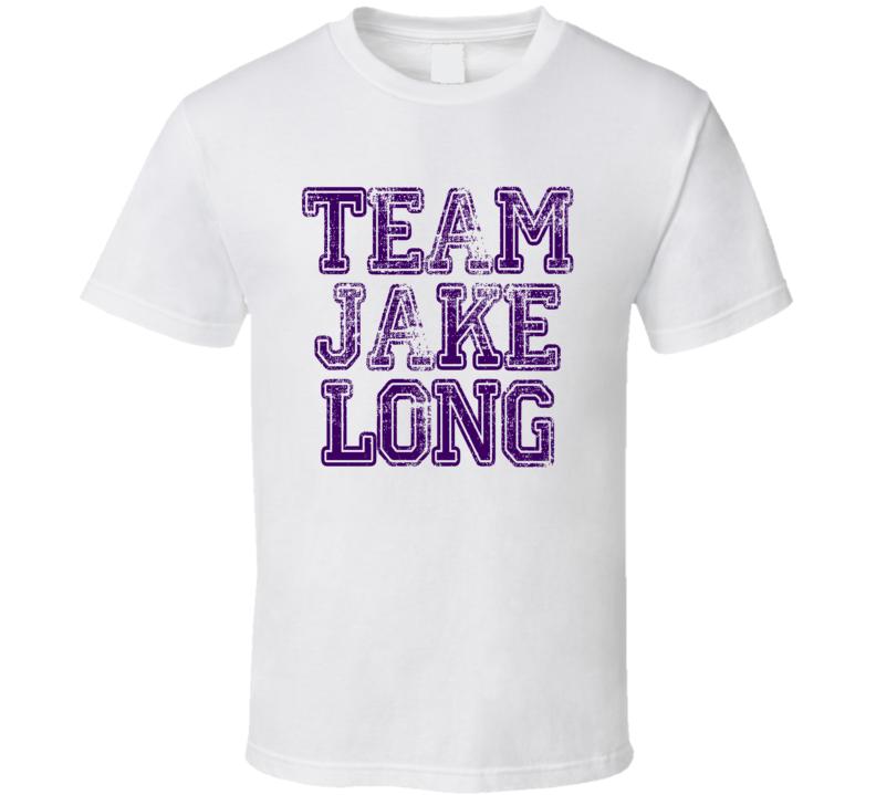 Team Jake Long Minnesota Football Player Worn Look Sports T Shirt