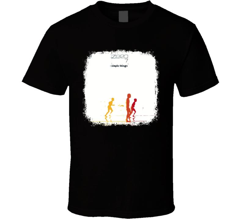 Zero 7 Simple Things EDM Album Poster Worn Look Music T Shirt