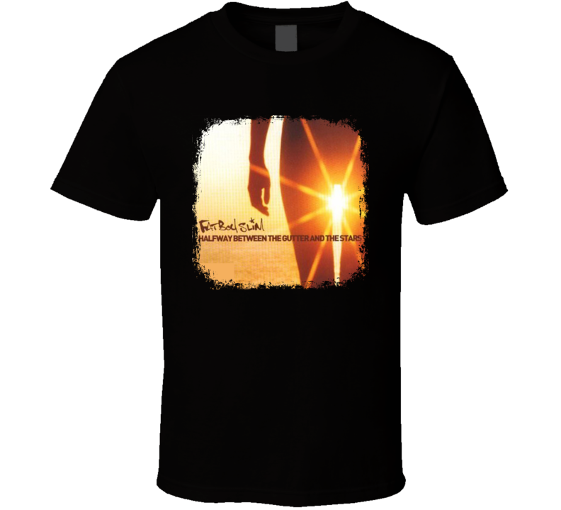Fatboy Slim Halfway Between EDM Album Poster Worn Look Music T Shirt
