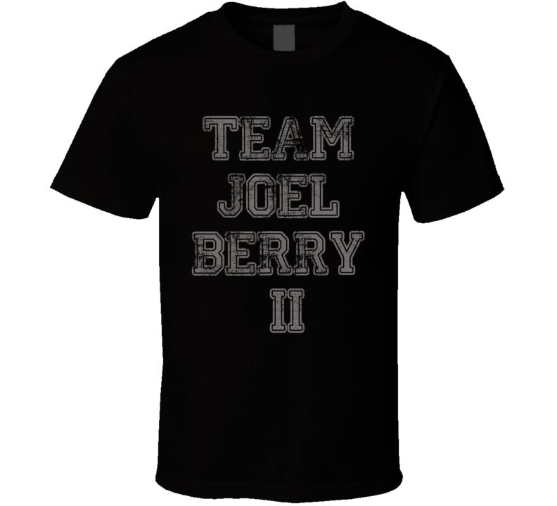 Team Joel Berry II Carolina Basketball Player Worn Look Sports T Shirt