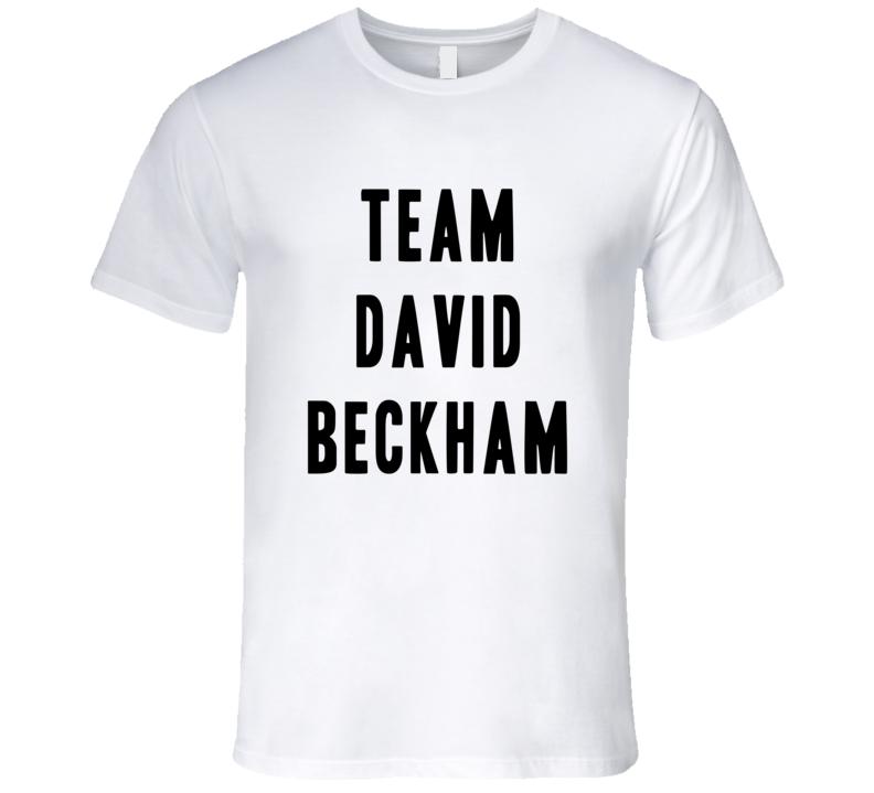 Team David Beckham Manchester Retired Football Player Mens Fitted T Shirt