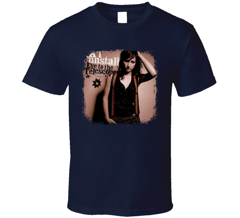 KT Tunstall Eye To The Telescope Album Poster Worn Look Music T Shirt