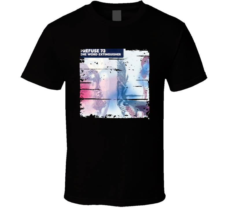 Prefuse 73 One Word Extinguisher Album Poster Worn Look Music T Shirt