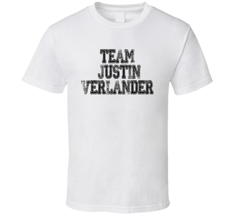 Team Justin Verlander Cy Young Award Baseball Player Worn Look T Shirt