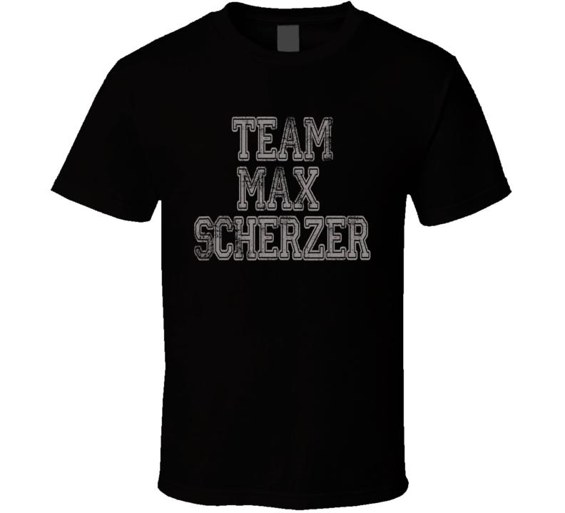 Team  Max Scherzer Cy Young Awards Baseball Player Worn Look T Shirt
