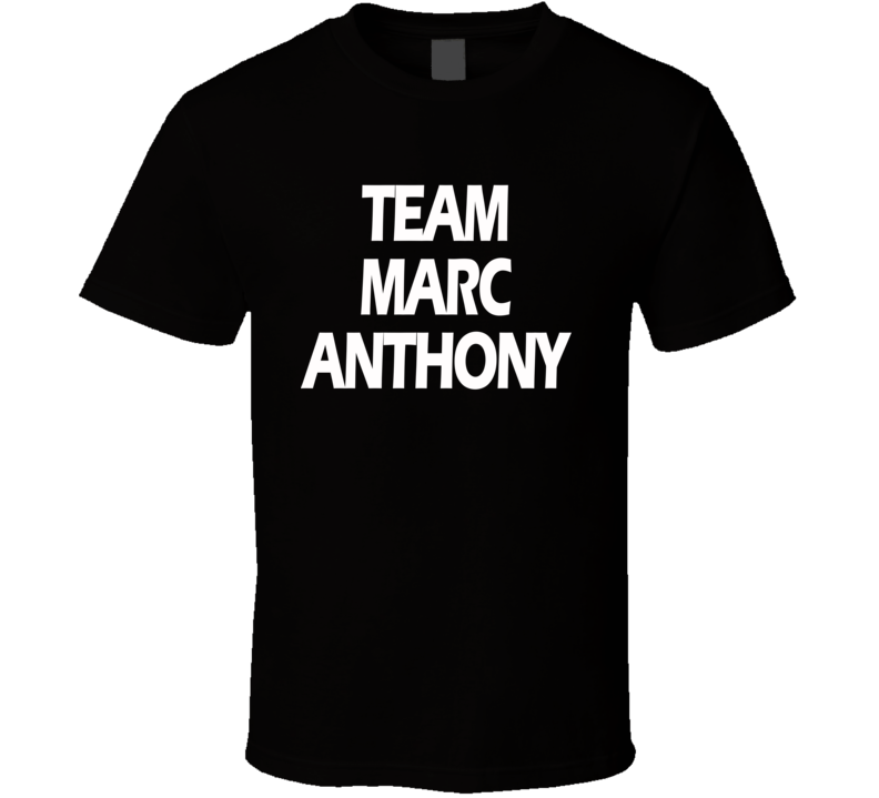 Team Marc Anthony Latin Grammy Awards Celebrity Singer Music T Shirt
