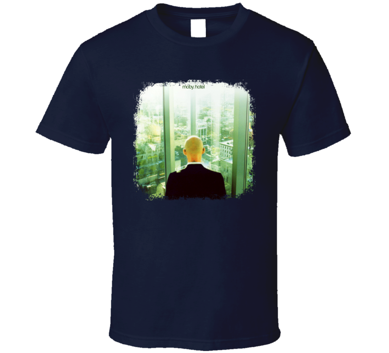 Moby Hotel EDM Album Poster Worn Look Music T Shirt