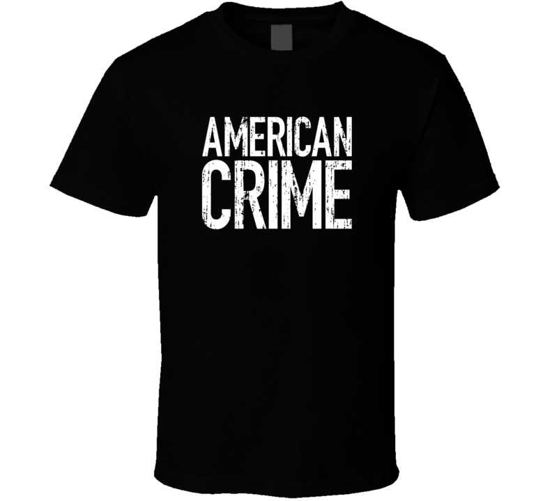 American Crime TV Show Poster Worn Look Cool Hip Gift T Shirt