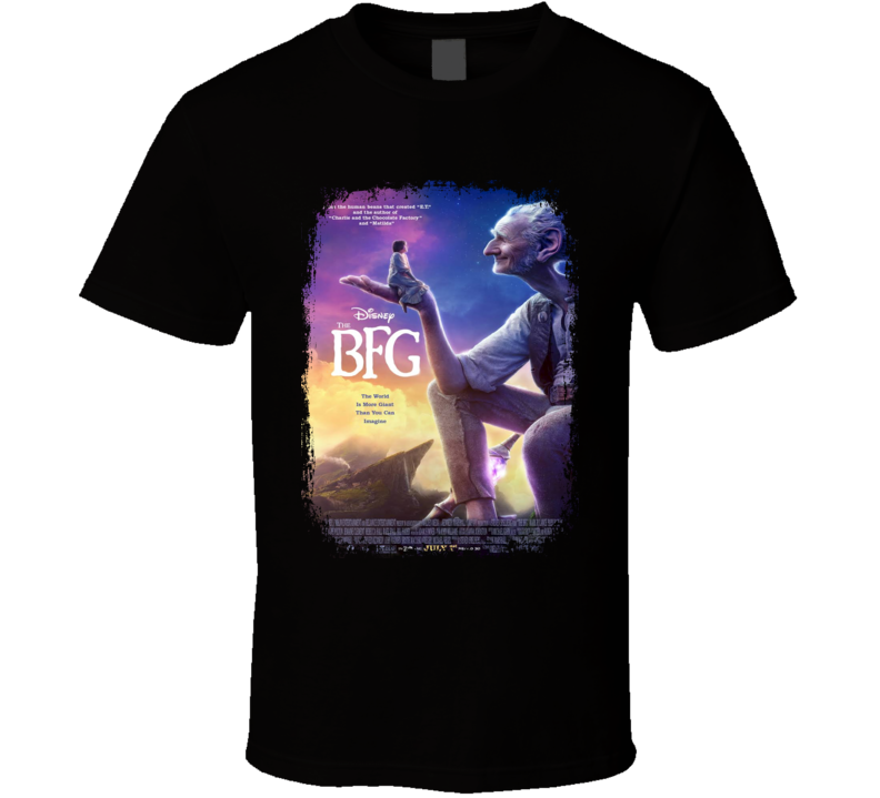 The BFG Movie Poster Worn Look Cool Fantasy Film Gift T Shirt