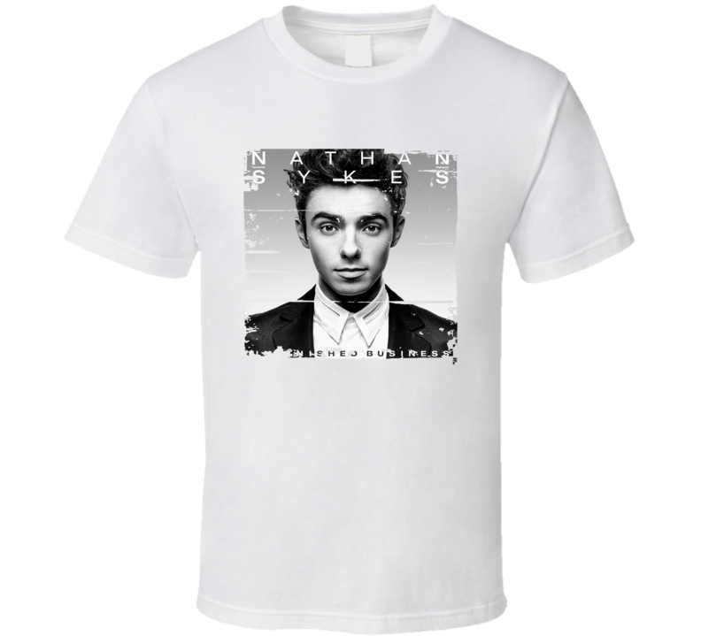 Nathan Sykes Unfinished Business Poster Worn Look Music Gift T Shirt