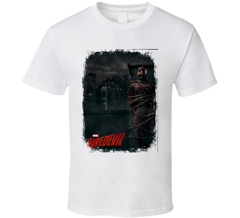Daredevil TV Show Poster Worn Look Cool Hip Gift T Shirt