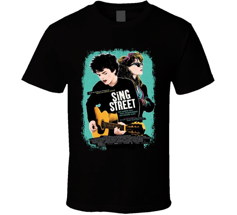 Sing Street Movie Poster Worn Look Cool Musical Film Gift T Shirt
