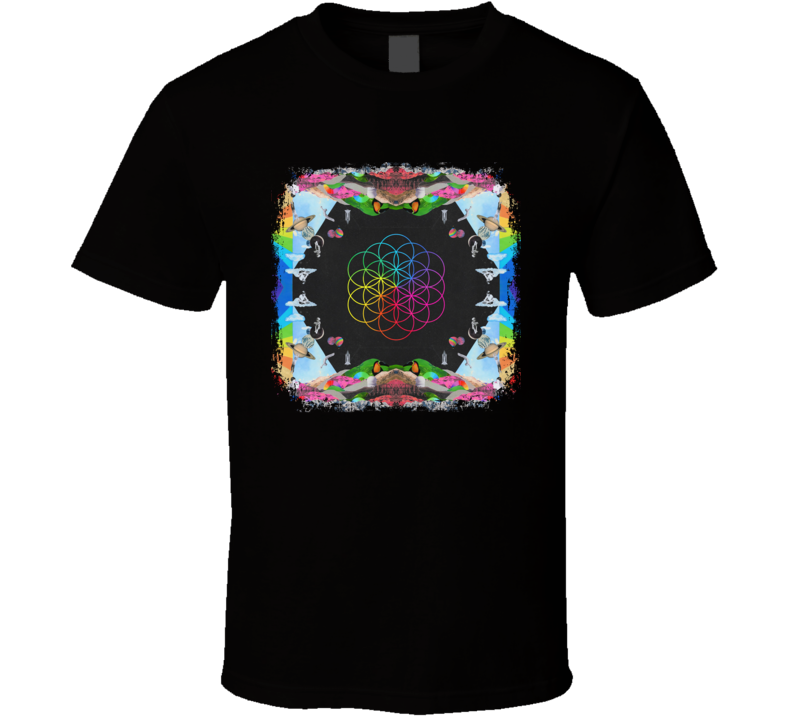 Coldplay A Head Full Of Dreams Poster Worn Look Music Gift T Shirt