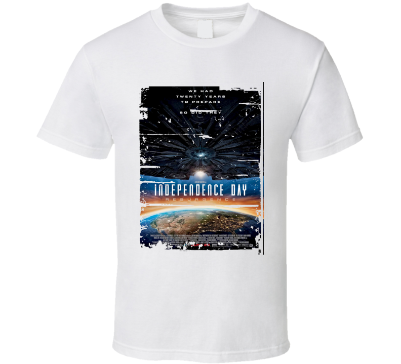 Independence Day Resurgence Movie Poster Worn Look Cool Gift T Shirt