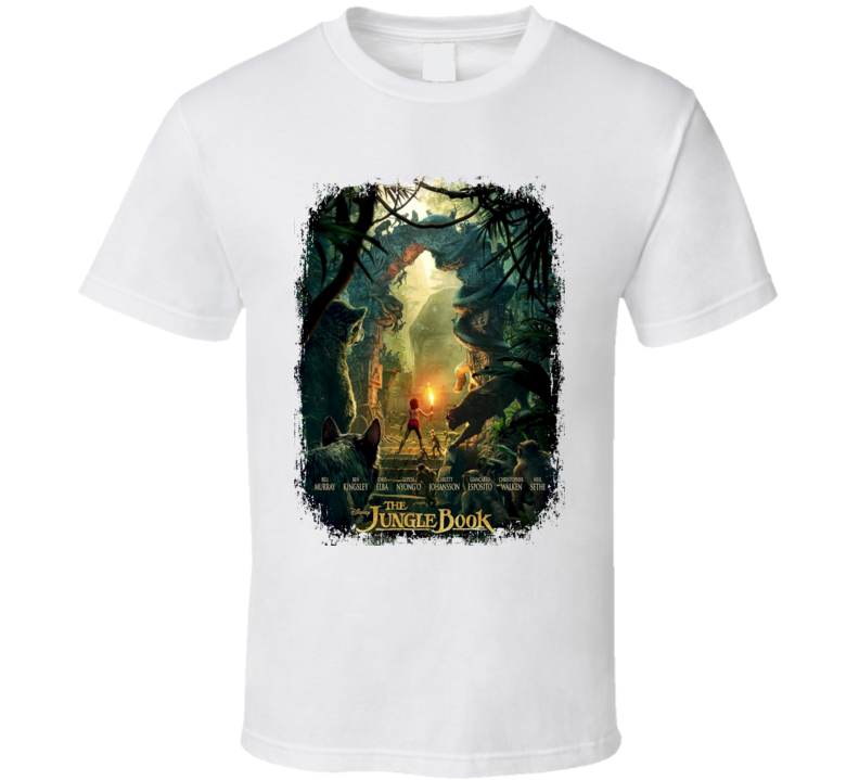 The Jungle Book Movie Poster Worn Look Cool Drama Film Gift T Shirt