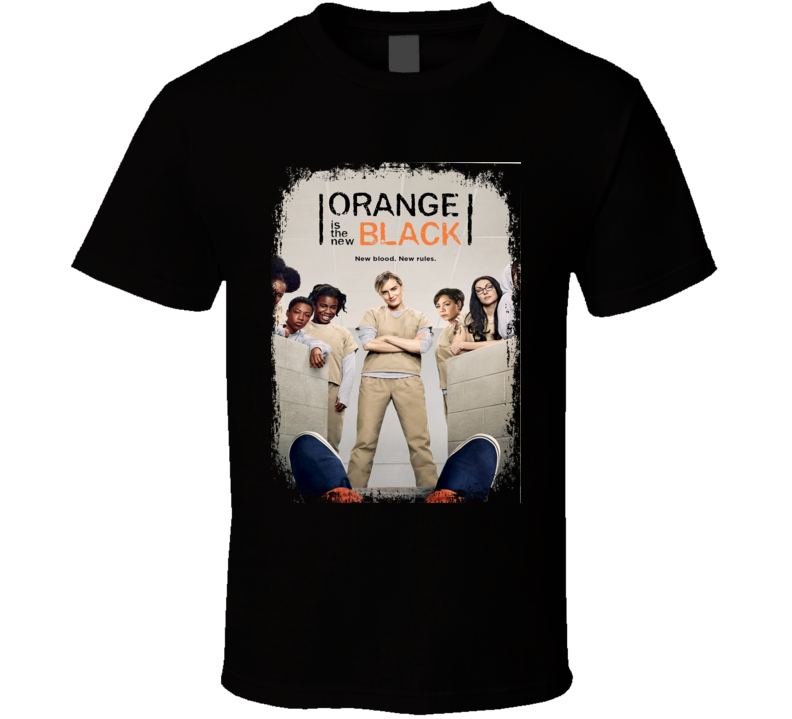 Orange Is The New Black TV Show Poster Worn Look Cool Hip Gift T Shirt