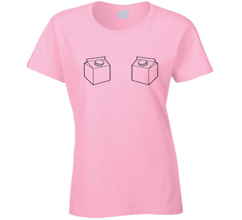 Milk Carton Breastfeeding Mother Cool Funny  Xmas Gift Ladies T Shirt