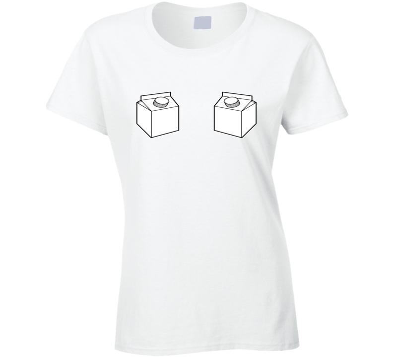 Milk Carton Breastfeeding Mummy Funny Xmas Gift Cool Ladies T Shirt