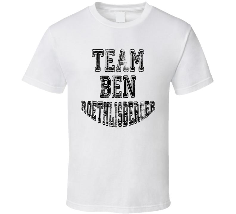 Team Ben Roethlisberger Pittsburgh Football Fan Worn Look T Shirt