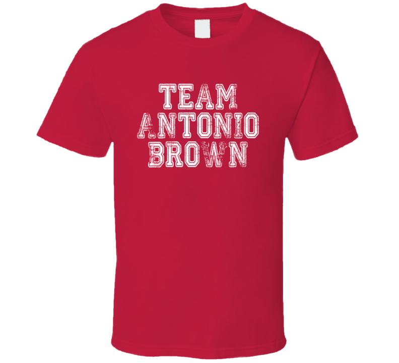 Team Antonio Brown Pittsburgh Football Player Fan Worn Look T Shirt