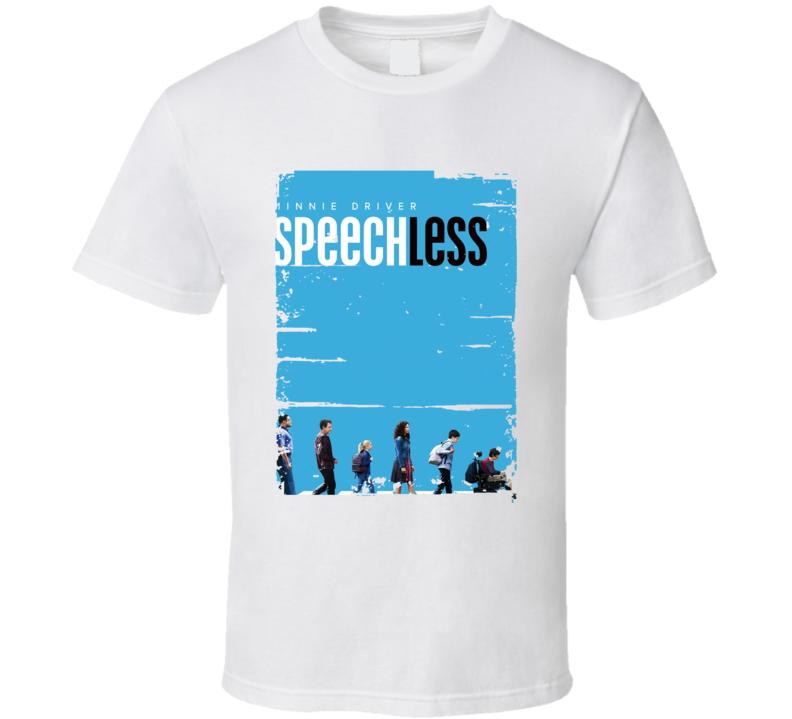 Speechless TV Show Poster Worn Look Cool Hip Gift T Shirt
