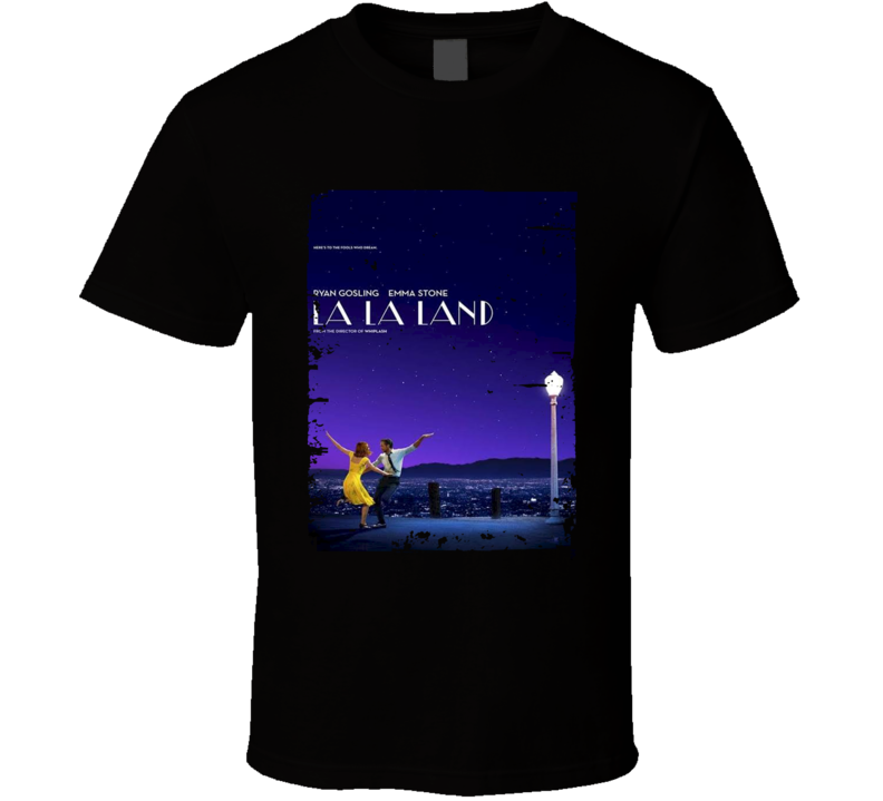 La La Land Movie Poster Worn Look Cool Drama Film Gift T Shirt