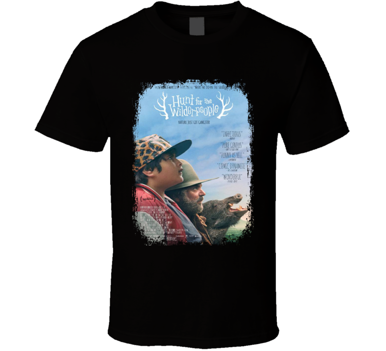 Hunt For The Wilderpeople Movie Poster Worn Look Cool  Gift T Shirt