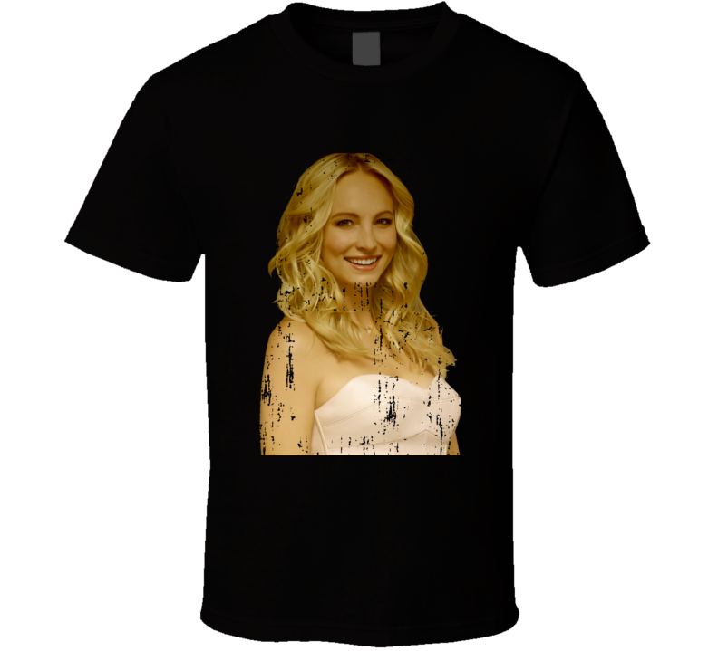 Caroline Forbes The Vampire Diaries Character Poster Worn Look TV Show T Shirt