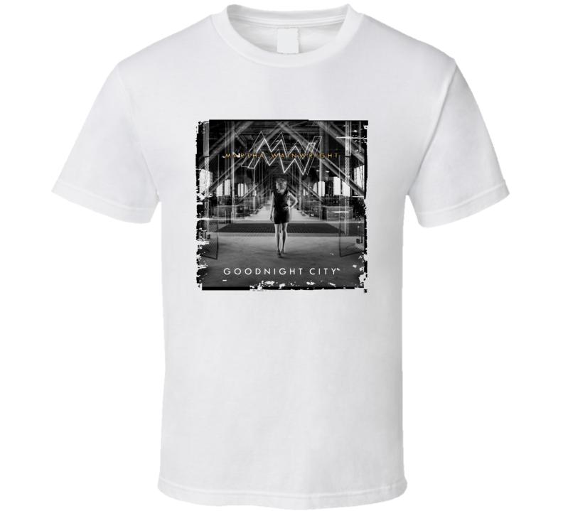 Martha Wainwright Goodnight City Poster Worn Look Cool Music T Shirt