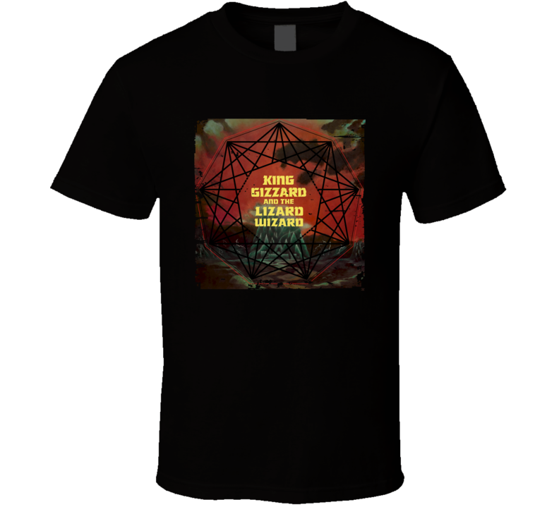 King Gizzard Lizard Wizard Nonagon Infinity Poster Worn Look T Shirt