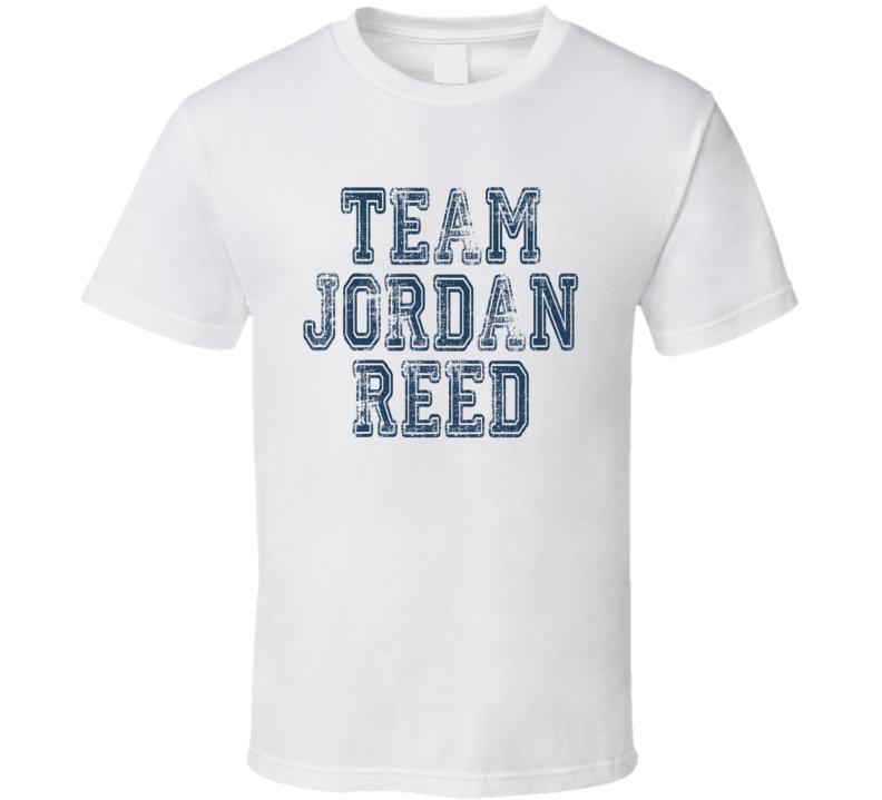 Team Jordan Reed Washington Footballer Worn Look Sports Fan T Shirt