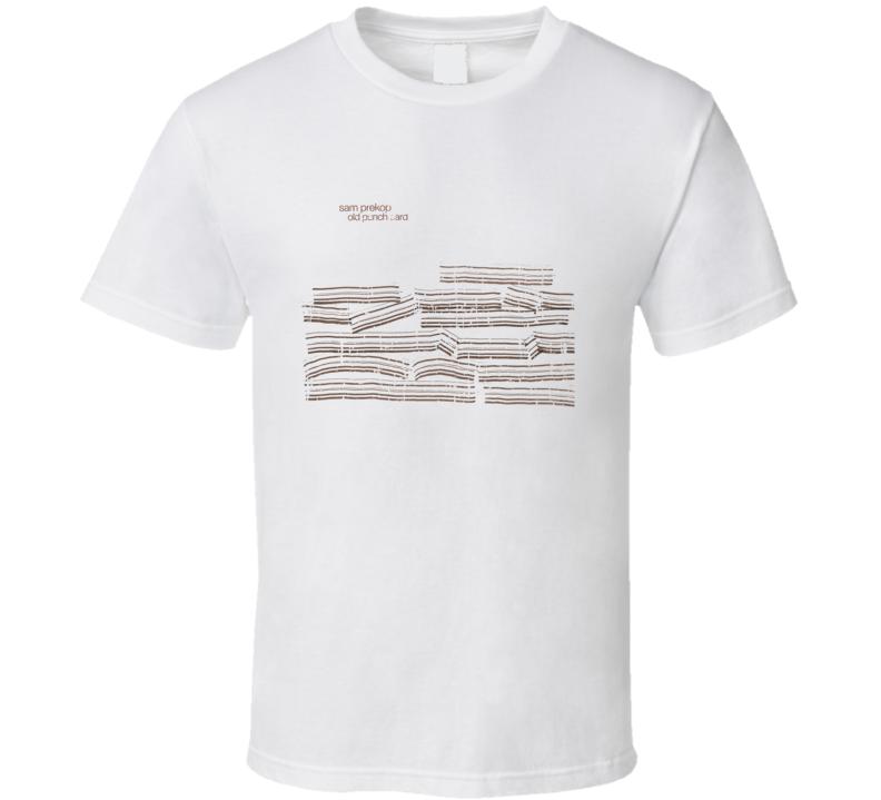 Sam Prekop Old Punch Card EDM Album Poster Worn Look Music T Shirt