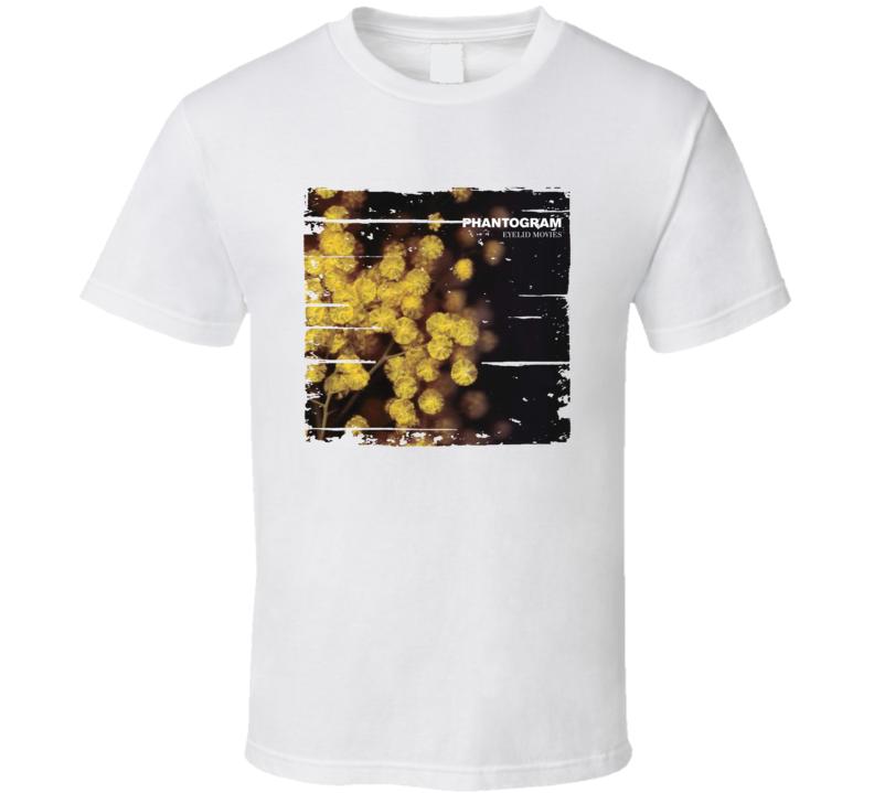 Phantogram Eyelid Movies EDM Album Poster Worn Look Music T Shirt