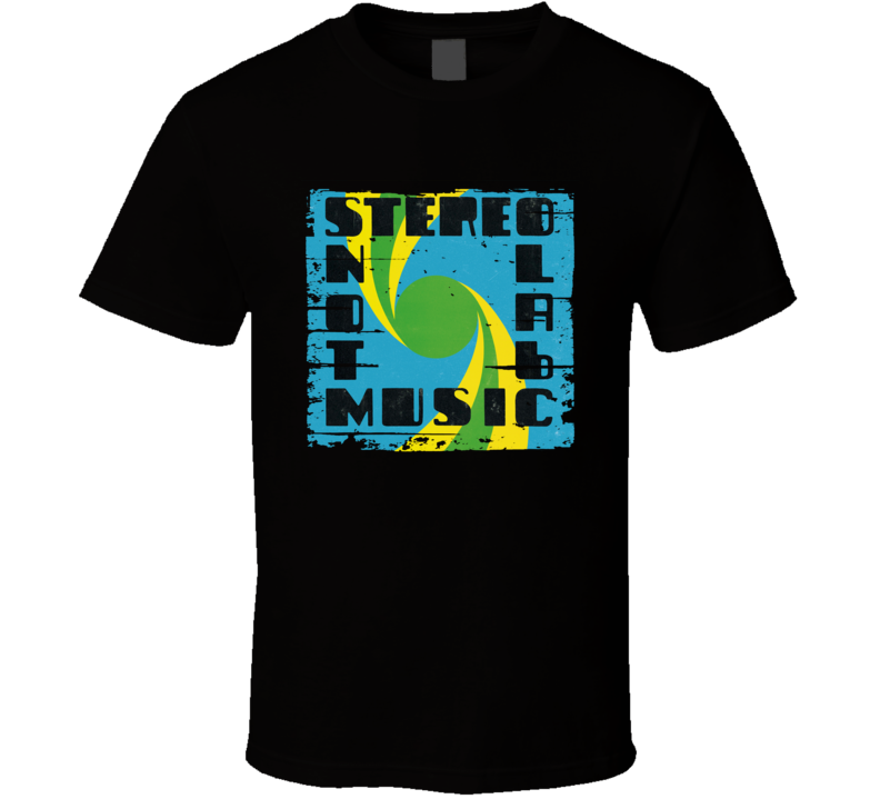 Stereolab Not Music EDM Album Poster Worn Look Music T Shirt