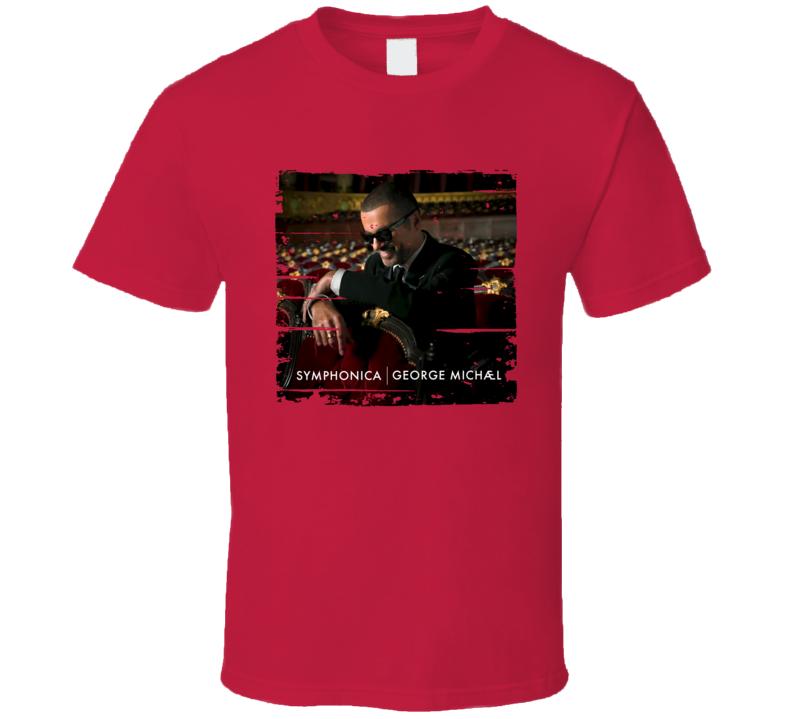 George Michael Symphonica Album Poster Worn Look Music Tribute T Shirt