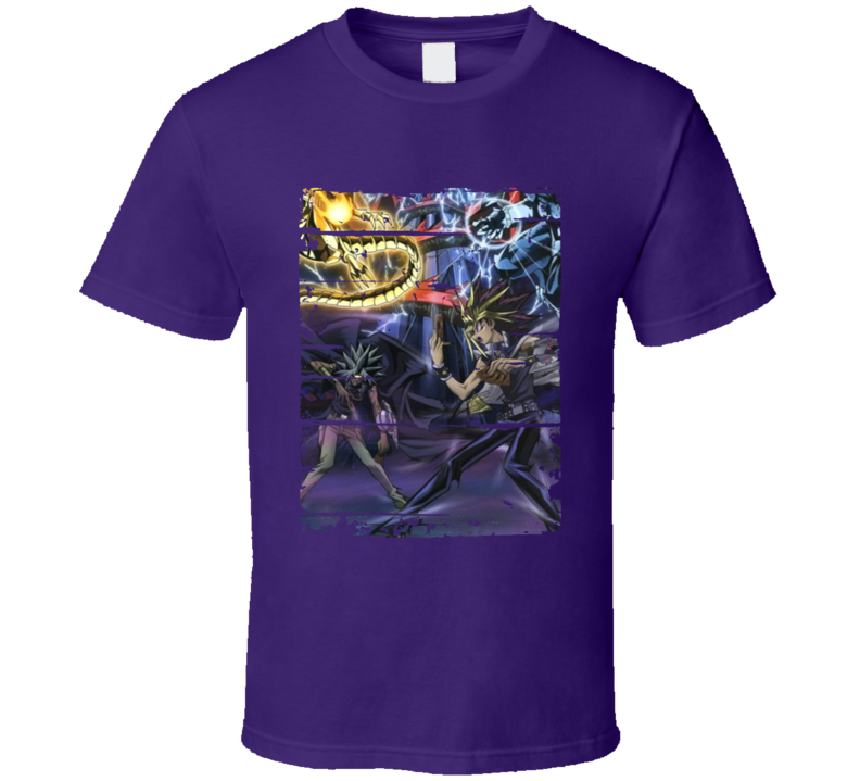Yu-Gi-Oh Duel Monsters Battle City Anime Battle Card Worn Look T Shirt