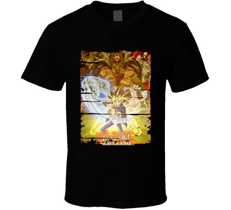 Yu-Gi-Oh Movie 2 Pyramid of Light Anime Battle Card Worn Look T Shirt